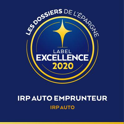 Un label d'excellence pour IRP AUTO Emprunteur