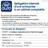 Délégation internet d'une entreprise à un cabinet comptable, CDR390P