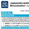 Notice Garantie Supplémentaires de Prévoyance, Cadres, LDR144P