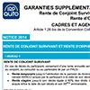 Notice Garantie Supplémentaire de Prévoyance, Agents de maîtrise et Cadres, rente conjoint, LDR146P