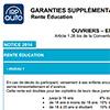 Notice Garantie Supplémentaire de Prévoyance, Ouvriers, Employés, Apprentis, rente éducation, LDR148P