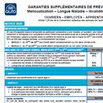 Notice Garantie Supplémentaire de Prévoyance, Ouvriers, Employés, Apprentis, LDR142P