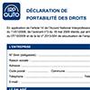Formulaire de déclaration de maintien des droits,  CDR428P