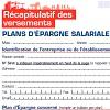 IRP AUTO - Récapitulatif des versements au Plan d'Épargne salariale