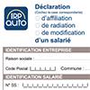 IRP AUTO - Déclaration d'affiliation et radiation de vos salariés (DARS) - GDR289P
